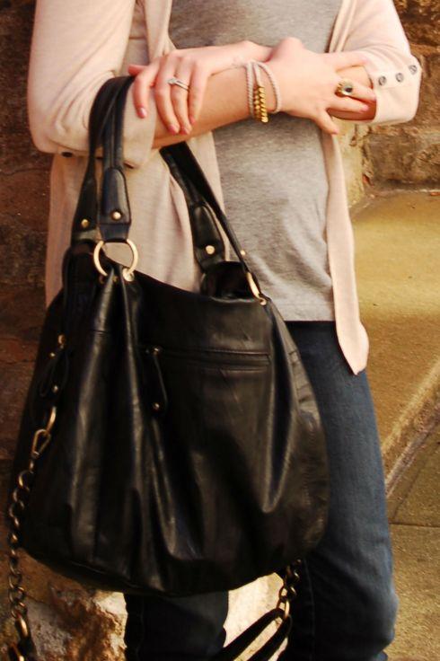 Camel and Gray Bag