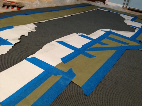 Painted Rug Project - The Lovely Lantern